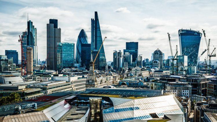 Skyscrapers in City of London, London, UK.
