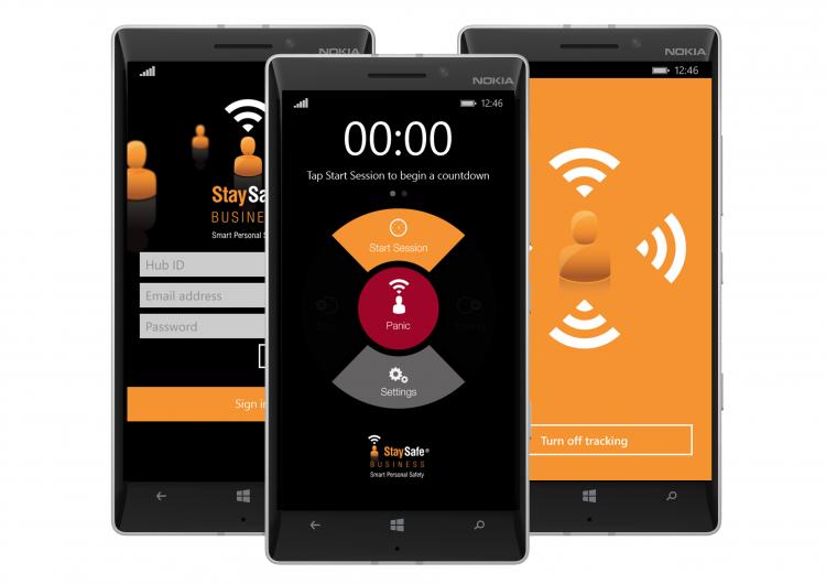 StaySafe lone worker safety Windows app