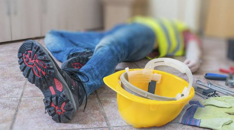 Lone worker construction fall from height, injured